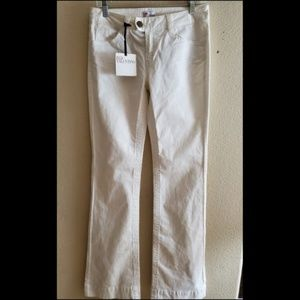 RED Valentino Size 27 White Italy Bootcut Jeans